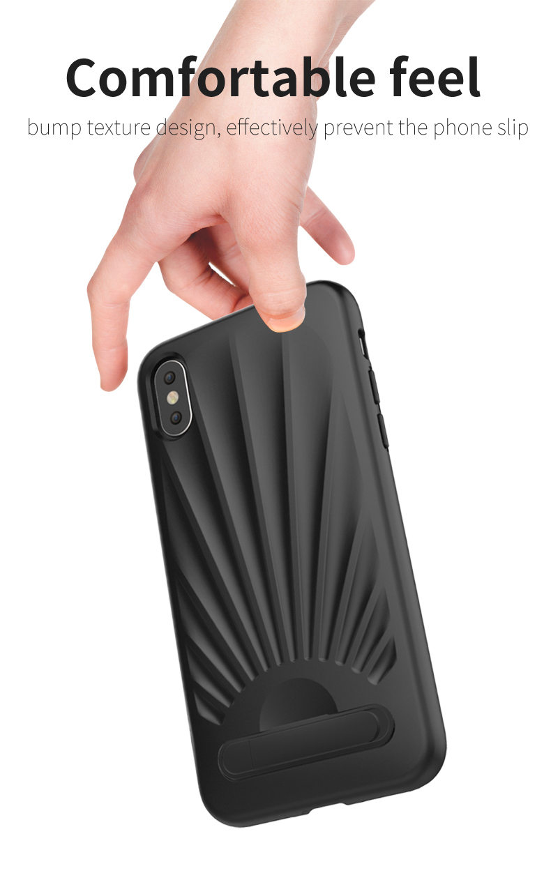 Unique Design Card Slot Kickstand tpu mobile phone cover for iphone x