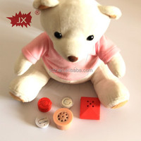 Talking push button sound module for toy