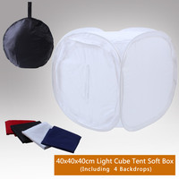 NEW Photo Studio Shooting soft box Tent Softbox Cube Box 40x40cm/photo light tent+portable bag with 4 Backdrops