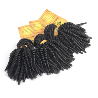Free Shipping New Arrial Hot Selling Afro Kinky Curl Hair Extension, Long Lasting Natural Black Bouncy Virgin Brazilian Hair