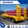 3 axle flatbed semi trailer low bed container semi trailer
