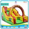 2016 QiLing cheap commercial giant inflatable slide, kids jumping slides inflatable