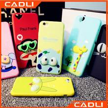 Universal cartoon silicone bumper case for mobile phones for iPhone 6 plus