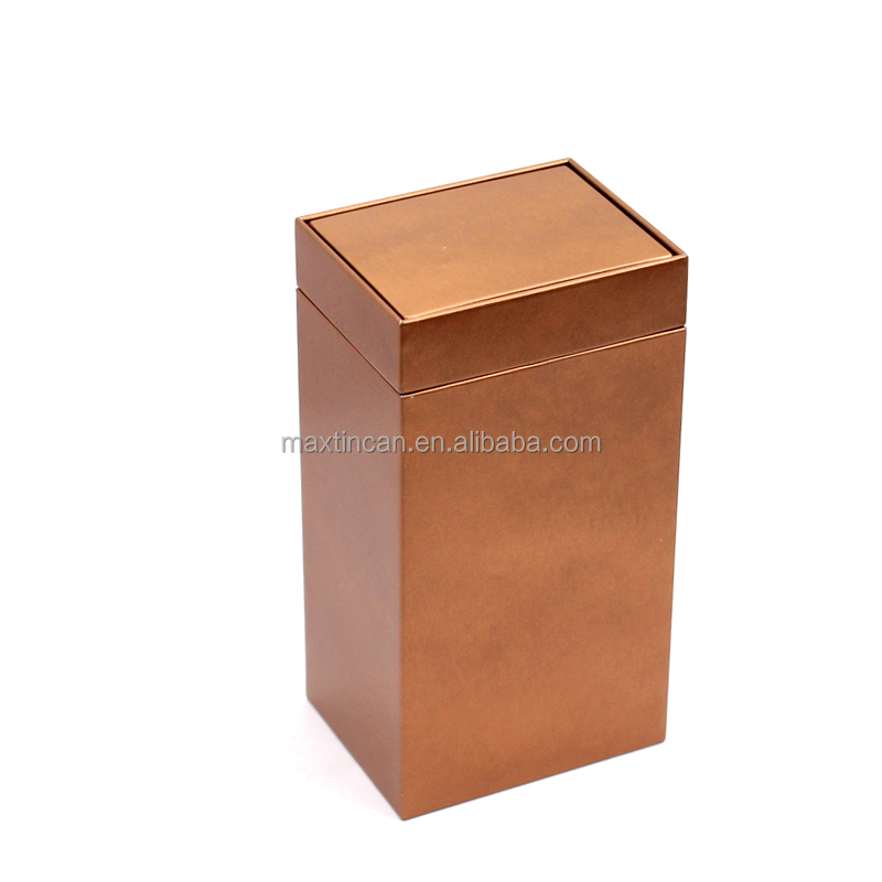 right angle square cookie packaging tin can high-end wholesale christmas gift box