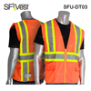 Wholesale High visibility orange polyester fabric construction man's working safety vest