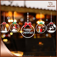 Removable Charm Pendants Wall Sticker Creative DIY Christmas Home Decor Decals for Living Room Market Shop Window Decoration