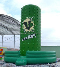 green inflatable water rock climbing wall/2012 hot sale inflatable climbing wall
