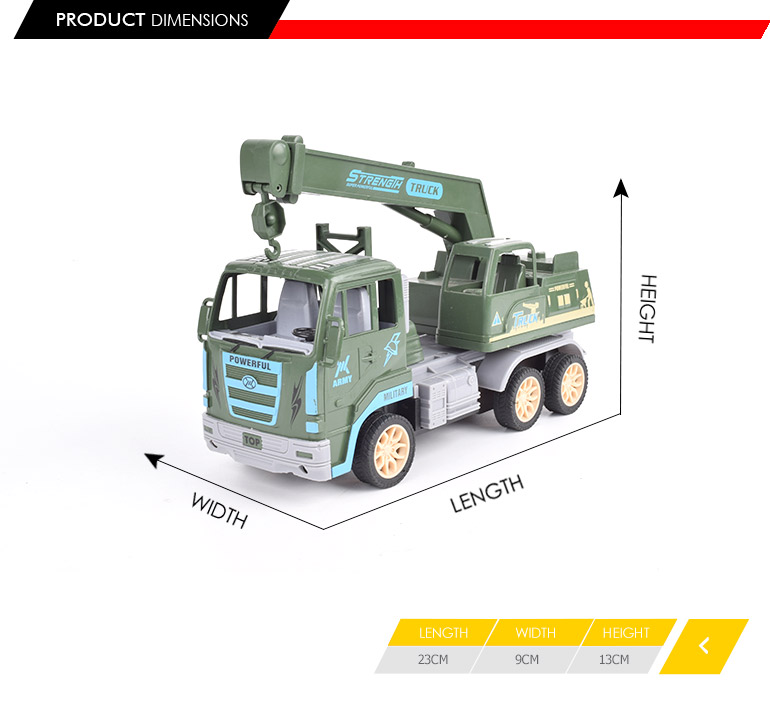 children's gift 4ch excavator model rc toy military truck with low price