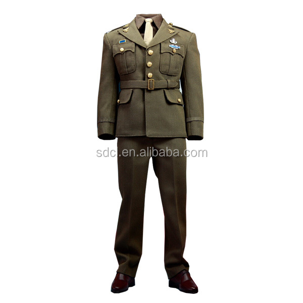 High quality military uniform army survice uniform for generals with gold braid