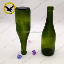 empty Wholesale 375ml 750ml Antique Green Glass Burgundy Wine Bottles