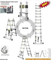 11 tread 3.8m suit for loft access,cleaning windons,interior and exterior painting and decorating etc telescopic ladder