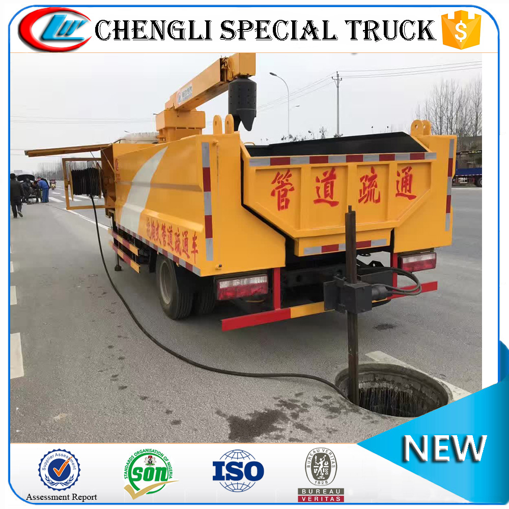 Dongfeng 4x2 4x4 Right Hand Drive Sanitation Vacuum Suction Drain Cleaning Pipeline Dredge Vehicle