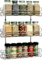 Household Kitchen Wire Wall Mount Spice Rack