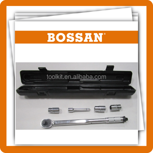 BOSSAN TOOLS,hot sale new Germany design 4pcs Drive Click Type Torque Wrench Snap Socket