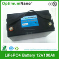 12V LiFePo4 storage rechargeable battery pack 100Ah