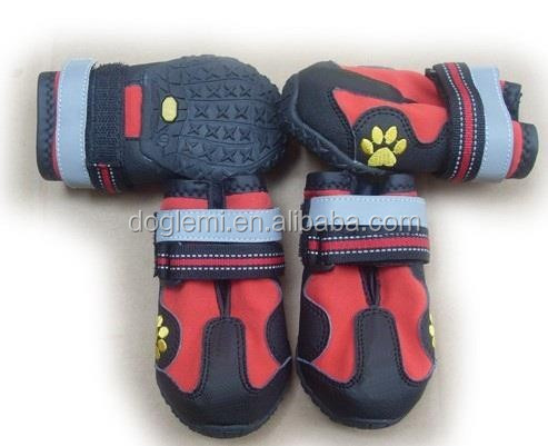 Fashion Dog Rain Shoes Coloful Dog Anti-slip Shoes Waterproof Fabric Dog Shoes Sale