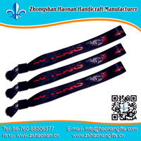 2013 Excellent Fancy Woven Any Logo Security Wrist Bands Advertising Logo Printing Custom Hand Wrist Bands