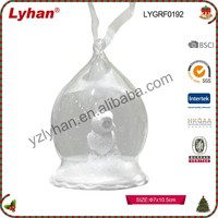 Cheap White Open Glass Ball With