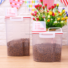 Plastic Best Selling Pet Cat Food Container Dog Airtight Food Grade Storage Box Pet Food Bins