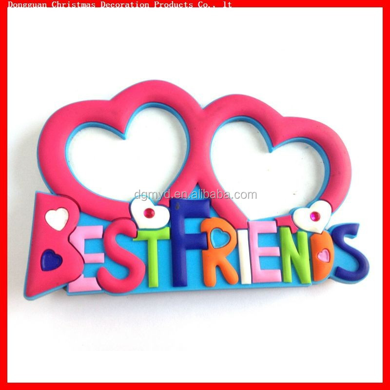 non-phthalates and lead free 3D soft pvc friendship photo frame for promotion