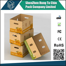 China experienced Durable Eco-friendly corrugated cardboard C-flute wax coated box