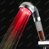 Single Red color lighting New style top LED Anion shower head