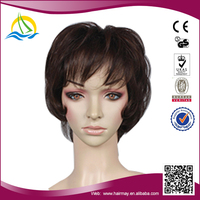 High quality High Temperature Fiber lace wigs for white people