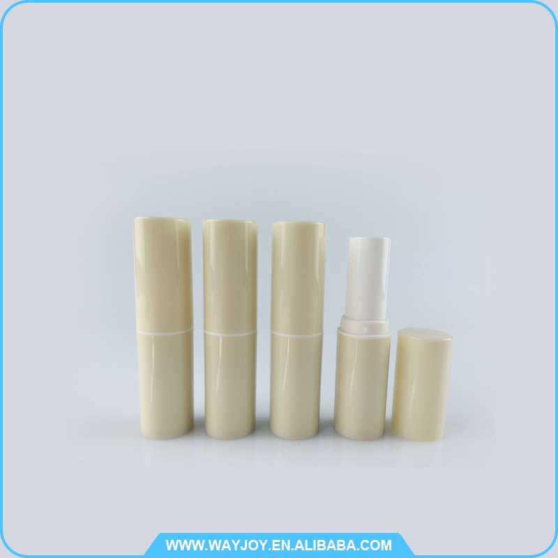 professional quality plastic horn cap pearlized lip balm tube