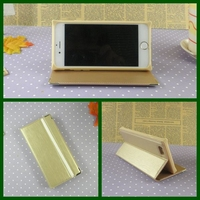 Elegant beige PU leather wallet case for iphone 6 smart stand pouch mobile phone case for iphone 4 5 6 wholesale