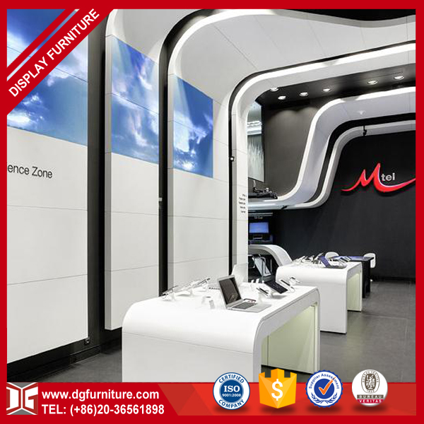 Creative display booth stand for mobile shop design