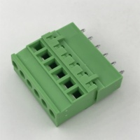 5.08MM pitch Vertical PCB pluggable terminal block male and female XK2EDGKA-5.08 2EDGVC straight pin connector beside sealed