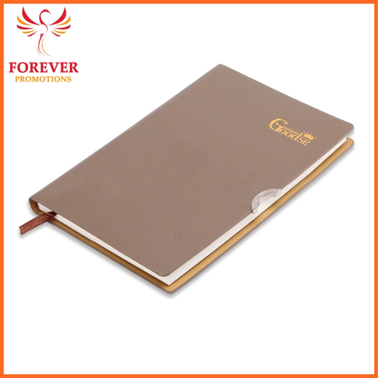 Leater Cover 110 Sheets 20.8*14.2cm Notebook With Metal Closure Agenda Notebook Company Personalized Notebook
