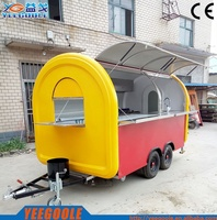 Food Vending Trailer Cars For Sale Mobile Restaurant Trailer/fast Snack Trailer/fast Food Carts Selling Food Truck with CE