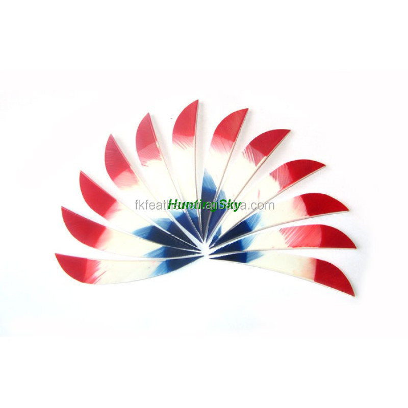 Arrow Feather And Feather Gateway With Three Color For Archery Arrow
