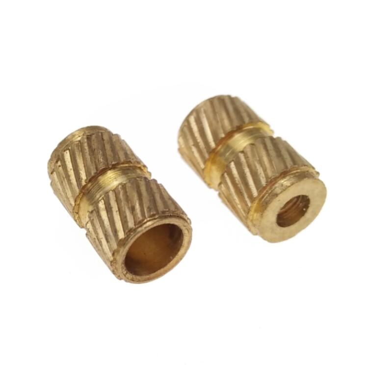M6 Brass Knurling / Knurled Nuts Fastener for Electronics Plastic 10 mm Length