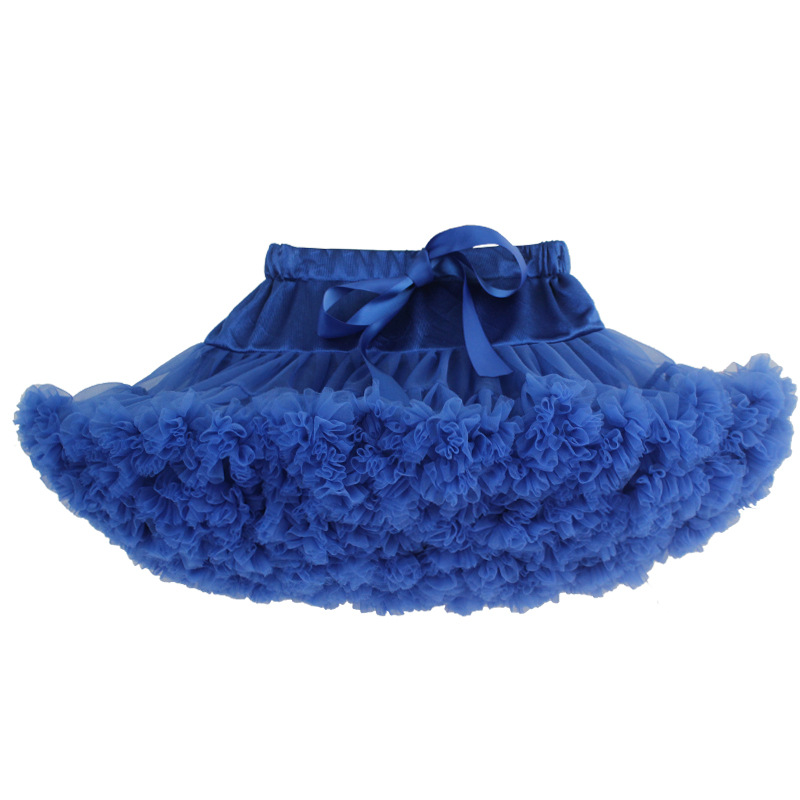 black tulle princess tutu pettiskirt/blue shell 30 color women mesh princess dress/ dancing pettiskirt