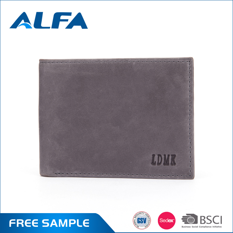 Alfa New Products 2016 Short Style Trifold Indian Genuine Leather Men Purse Wholesale