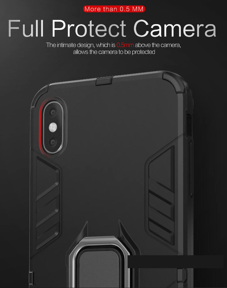 Mageric phone case back cover for iphone XS MAX kickstand armor case