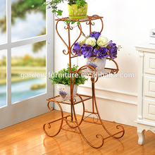 Outdoor Black/White/Brass/Bronze wrought iron flower pot holder stand