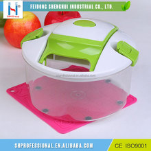 Multi-Function Salad Maker Clear 7 Pcs Transparent Vegetable Chopper Set