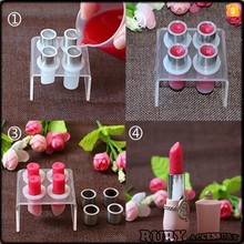 Hot Selling styles good performance black pink red gold filgree Lipstick mould tube CY0003