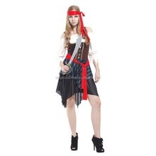 hot sales Caribbean Pirate Women Fancy Dress Carnival Costume