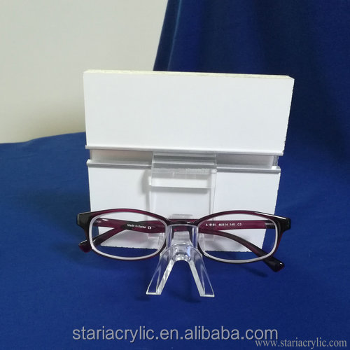 Factory Wholesale Slatwall Acrylic Single Sunglasses and Eyeglasses Display Holder Stand