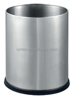 Oval single layer garbage bins for room