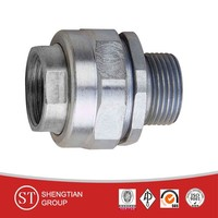 stainless steel welded adapter pipe fittings , hydraulic O ring seal union connector, NPT metric threaded male nipple