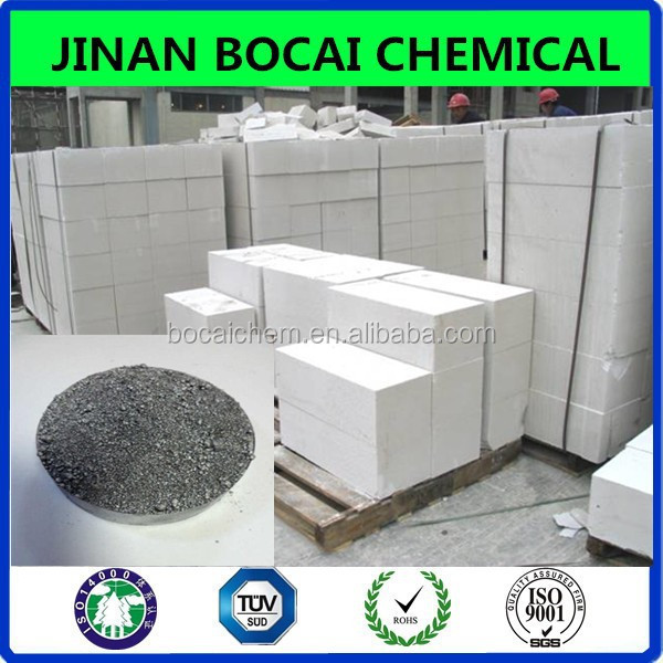 AAC bricks light concrete block application aluminum paste for aac with fast hair gas rate