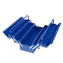 5 Trays folding tool box with double handle