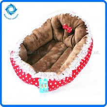Nice-looking Dot Pattern Soft Flannelette Cat Pet Bed Doggy Warm Kennel Yiwu