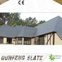 CE Passed Cheap Black Stone Tile Natural Slate Roof