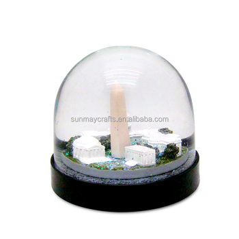 Wholesale custom made animal acrylic snow globe for sale
